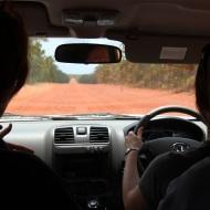 Four-wheel driving to Biranybirany